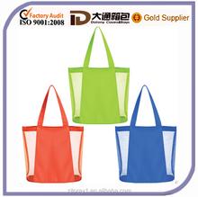Mesh shoulder shopping handbag beach bag