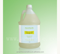 2014 Hot Body Care Spa Product Mositurizing & Whitening Citrus and Lime cellulite massage oil