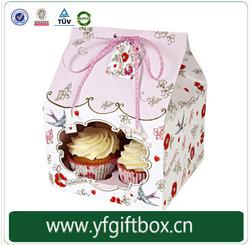 Chin manufacture Luxury wholesale customized mini fashion paper box 100% quality box for cupcake