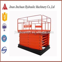 movable telescopic ladder/stationary scissors lift table