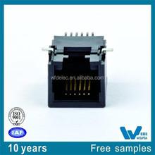 6P6C pitch=1.27 size:18.1X12.96X11.5 Multi rj11 female connector