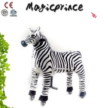 (EN71&ASTM&CE)~(Pass!!)~Dalian Factory Happy Trails ride on toys animal for sale , Plush animal scooter in mall