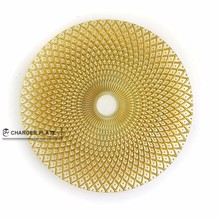 DAYA 2015 new design wholesale gold pattern for wedding decorative glass charger plate