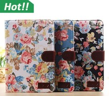 360 Rotating Flower Tablet Case PU Leather Stand Flip Book Smart Cover For iPad Mini 1 2 3