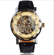 High quality transparent skeleton watch automatic