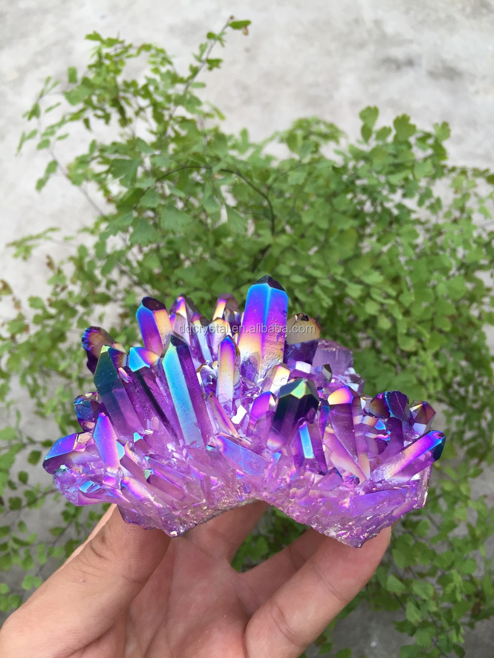Pequeno roxo galvanoplastia geodos de cristal para decoração de casa