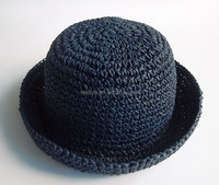 Whole sales paper crochet bank straw hats for girls