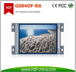 """low cost 8.4"""" lcd tft touch screen monitor with dvi and vga for medical equipment and industrial control"""