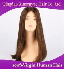 Wholesale European hair lace front wig Jewish kosher fashional cheap human hair