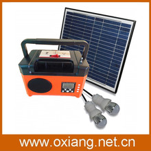 New arrival 10Wp/17.5V mini DC portable solar generator SP7 equipment with Radio good for outdoor use