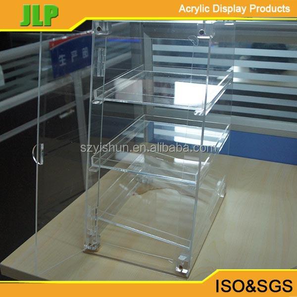 removible de acrílico caja de pan, cristal caja de pan