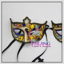 Jester Venetian Masquerade Costume Mardi Gras Carnival Party Italy Mask