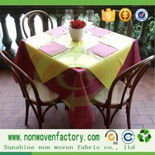 New product on china market table cover,polypropylene nonwoven fabric table cloth