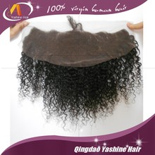 nature color 1b french lace unprocessed 100% indian virgin remy human hair lace frontal piece