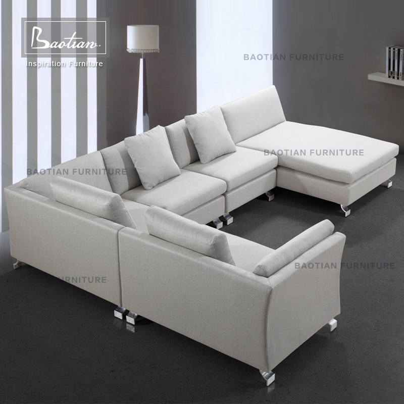 Italian Style Corner Sofa Sectional In Fabric European