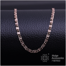 Latest design new fashion jewelry popular simple coffee gold plated chain necklace