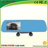 Bluetooth dual camera mirror car dash cam