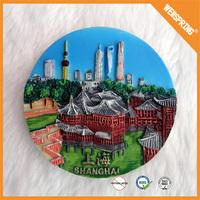 00-0011 Made in china fridge sticker ceramic polyresin resin fridge magnet