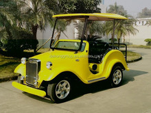 Leather seat electric classic car wholesaler ,sightseeing car