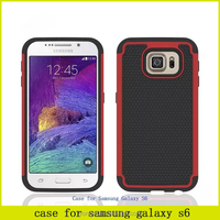 Big sales promotion hot sell 3 in 1 football pattern hybrid case for samsung s6 universal combo moilbe phone cover