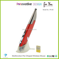 Hot Selling 2.4GHz Wireless Mouse Pen Shaped With Handwritting on Tablet PC Red
