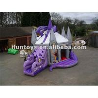 3D Dragons inflatable bounce house & slide