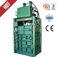 vertical hydraulic PET bottle baler /waste PET bottle baler machinvertical carton box baler machine
