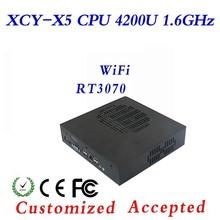 Hot Sale Computer Desktop PC Mini PC Linux Server Industrial PC X5 4200U 4G RAM 32G SSD Support Light pen,Mouse