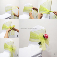 2015 Popular DIY Organza Fabric Make Chair Bow