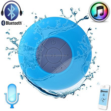 100% waterproof Portable Suction Speaker Wireless Bluetooth Speaker Shower Car Handsfree Receive Call & Music Suction