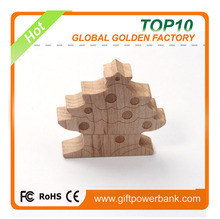 Top sales wood Christmas tree usb disk for gifts