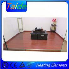 laminate wood floor of radiant floor heating and floor heating system