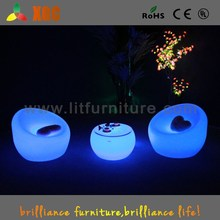 PE Club led coffee table commercial furniture clear make up table with lights , led coffee table