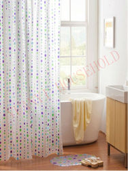 diamond shower curtain,hookless shower curtain with metal eyelets