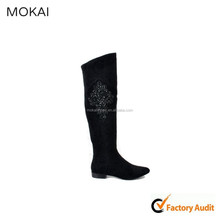MK005A-5-black over the knee boots, women ladies wholesale leather shoes