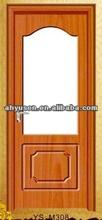 Melamine mdf moulded interior door glass design,mdf doors interior