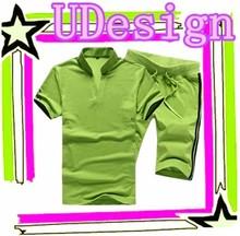 Men shirt round neck suits cheap sweat suits wholesale blank t shirts