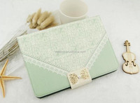 New Fashion Lady Style Lace PU Leather Case for Apple iPad 2 3 4