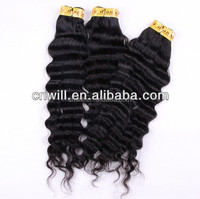 7A brazilian human hair sew in weave deep curly weave cheap Brazilian hair virgin Brazilian hair bundles 18inches