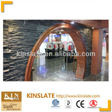 Quarry & factory Black slate exterior wall stone tile/ wall claddings tiles