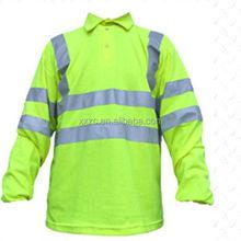 FR HV long sleeved polo shirt