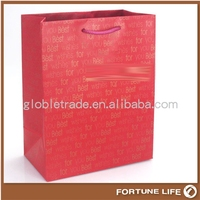 2015 recyclabe paper bags manufacturers white led/custom paper bag