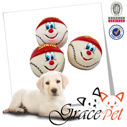 [Grace Pet] Pet Toy Ball Dog Toys Non-toxic Smiling Face Rubber Ball