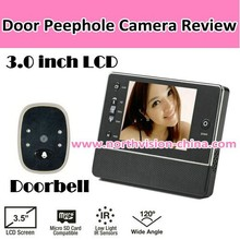 3.5 inch electronic door viewer with 120 degree, photo shooting, Nightvision, 32GB SD card