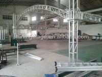 flat Aluminum stage tent, portable indoor stage roof, stage roof truss