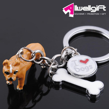 dog shaped keychain for promotion live animal keychain for wholesale/polyresin