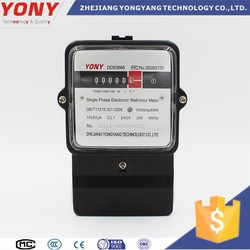 Newly Designed Single Phase Digital and Smart with RS485 Function Energy Meter with CE and IEC