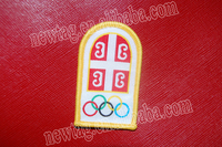 Olympic Logo Embroidery Patch: Canvas + Embroidery + Locking Stitch+embroidery patch embroidered custom badges / patches
