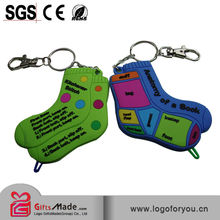 high quality 3d soft pvc sneaker keychains gift