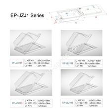 EP-JZJ1 Clam Shell Box Fishing lure box Clear plastic